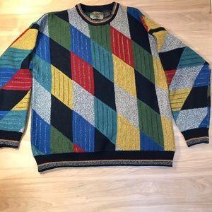 Vintage Le Tigre 90s Coogi Sweater XL Color Block
